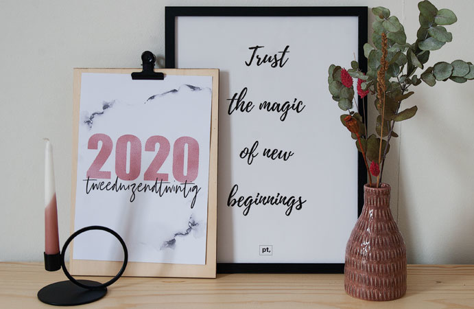 Free printable 2020 poster