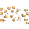 Wonen voor jou Accessoires Drie soorten houten punaises