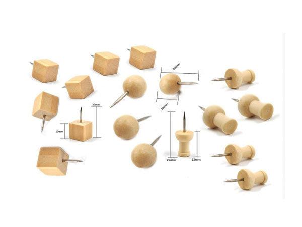 Setje houten punaises