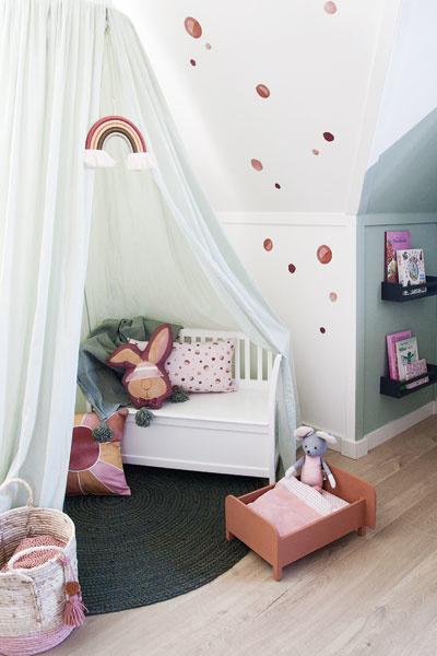 Kinderkamer groen tentje
