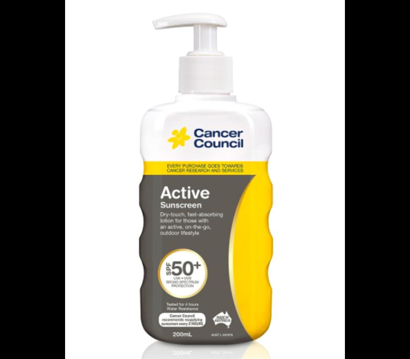 Cancer Council Active SPF50+ Sunscreen