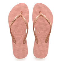 Havaianas SLIM LOGO METALLIC Womens Flip Flops