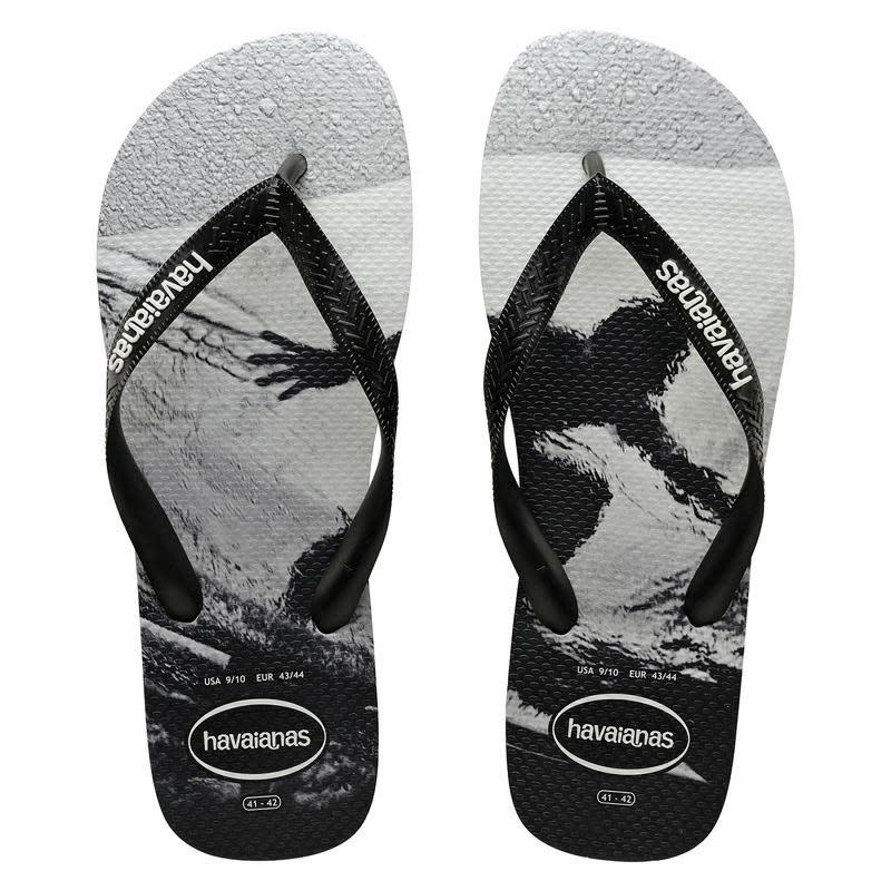 havaianas top black flip flops