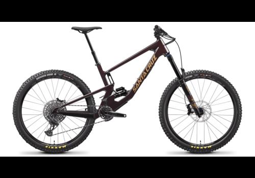 "Santa Cruz Santa Cruz '21  Nomad 5 |  R Kit | 27.5 "" Mountain Bike - Oxblood and Tan - Small"