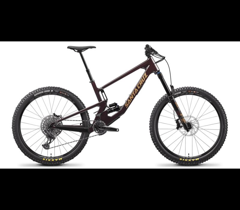 "Santa Cruz '21  Nomad 5 |  R Kit | 27.5 "" Mountain Bike - Oxblood and Tan - Small"