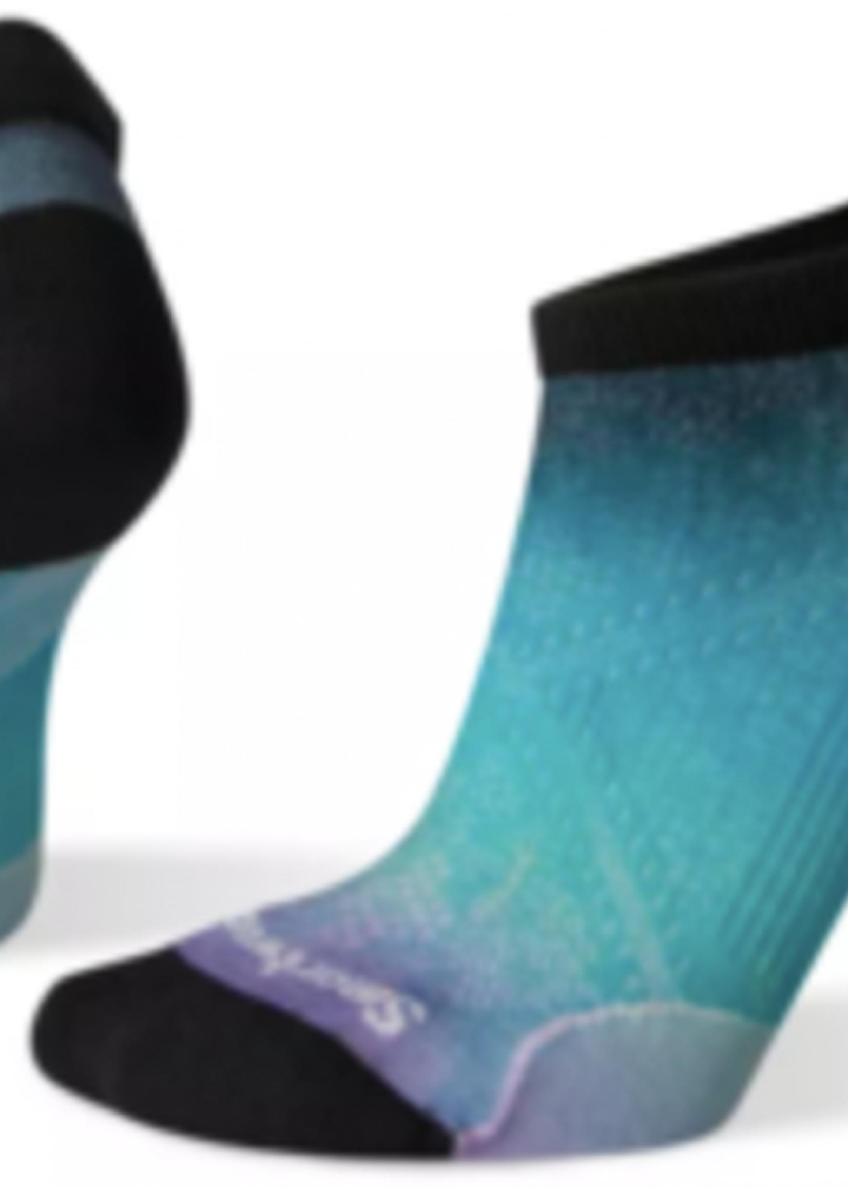 Smartwool Women's PhD Run Ultra Light Ombre Print Micro Socks