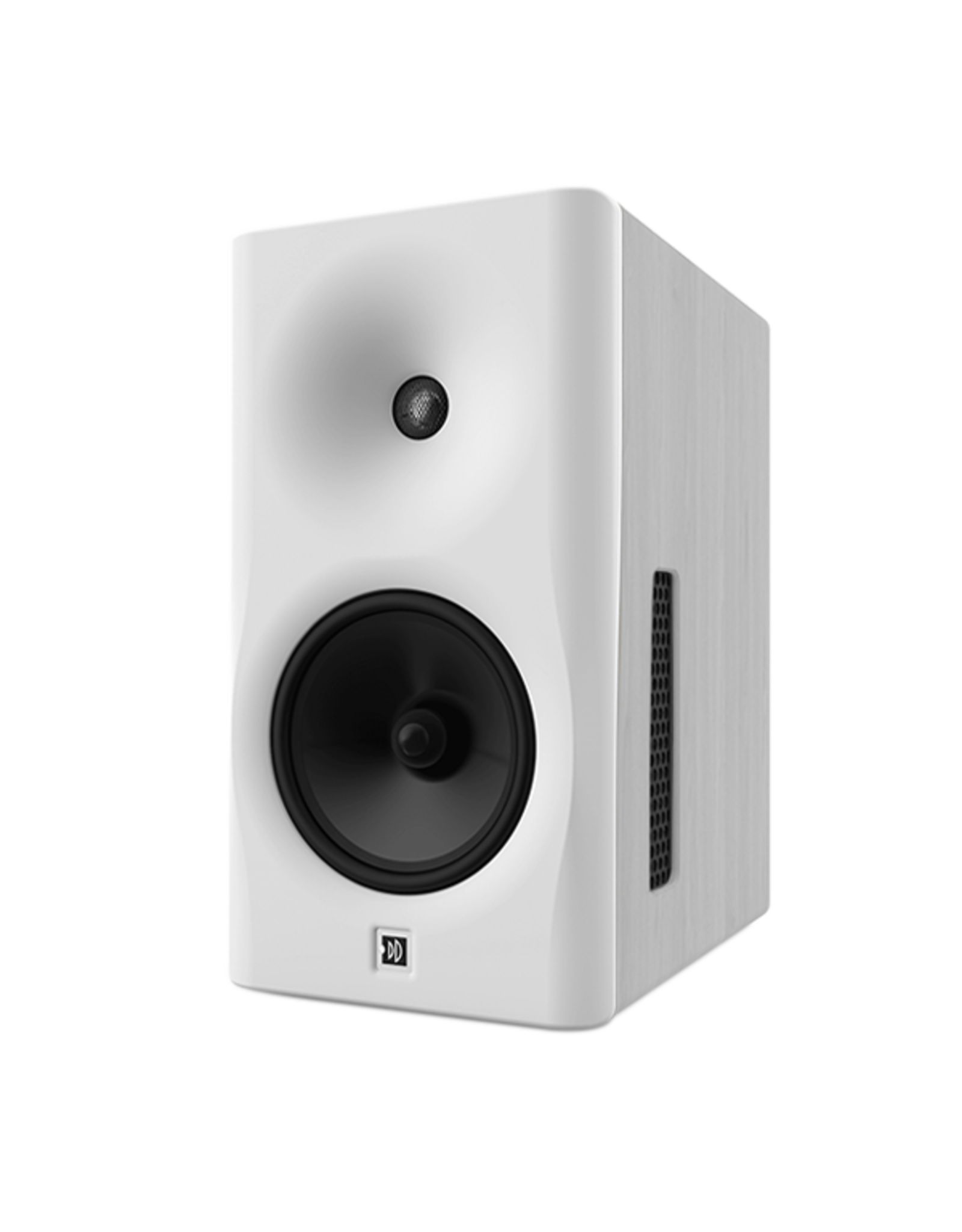 Dutch & Dutch 8C speaker, white baffle, white cabinet