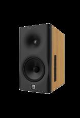 Dutch & Dutch 8C speaker, black baffle, natural cabinet