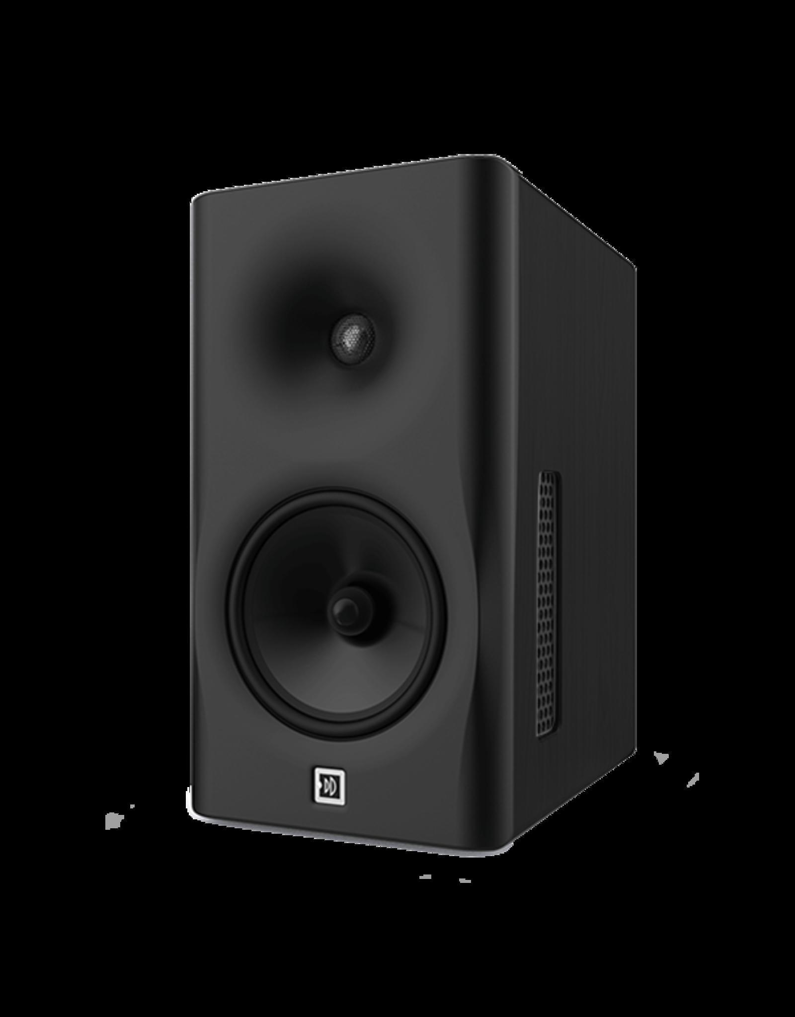 Dutch & Dutch 8C speaker, black baffle, black cabinet