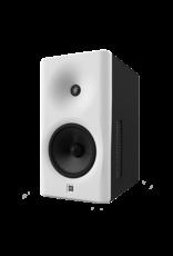 Dutch & Dutch 8C speaker, white baffle, black cabinet