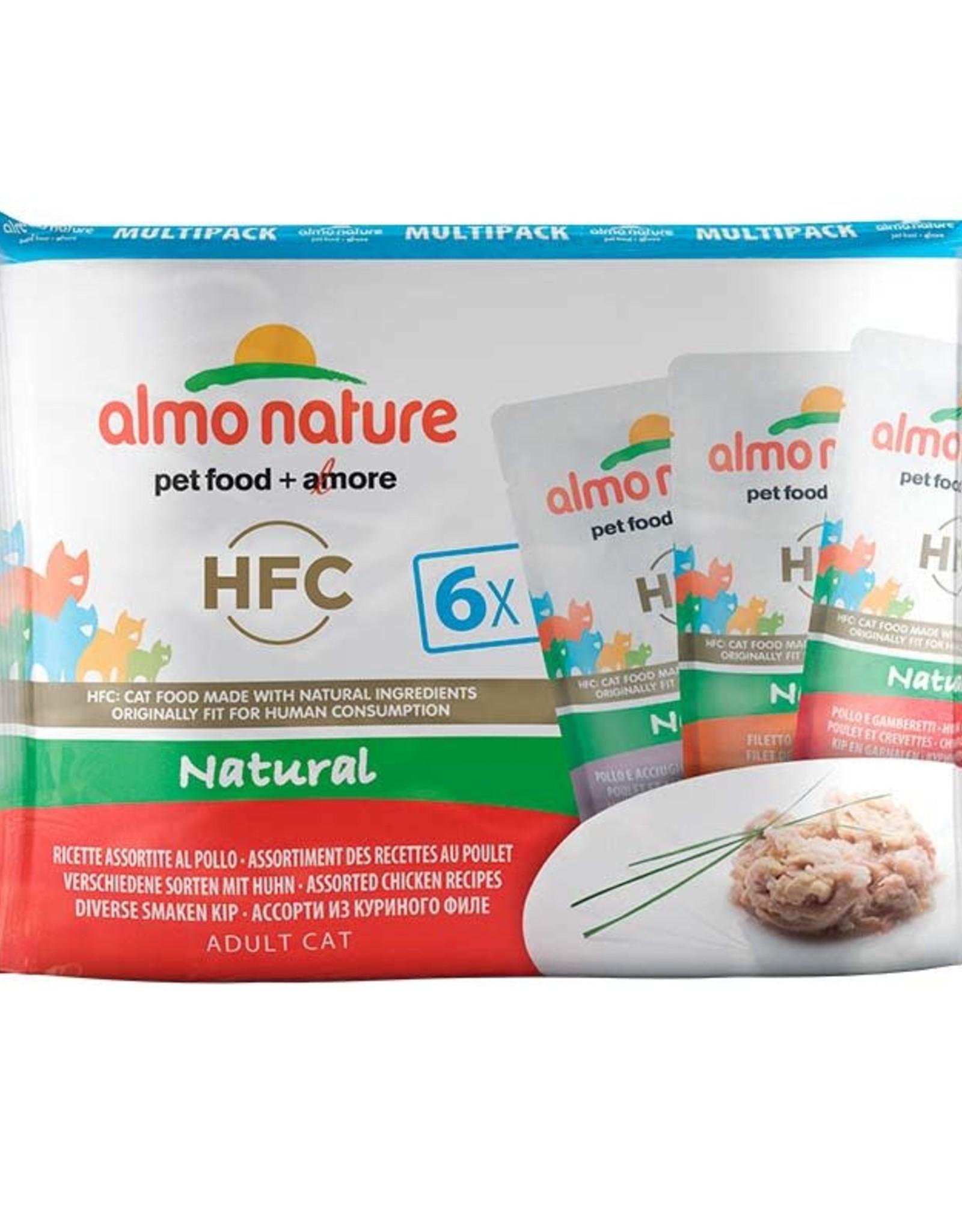 Almo Nature Almo Nature HFC Gato Multipack sobres variados en caldo de pollo 6 x 55g