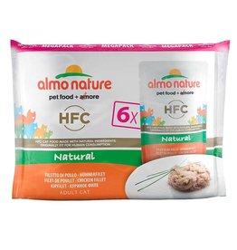 Almo Nature Almo Nature HFC Gato Multipack sobres filete pollo 6 x 55 g