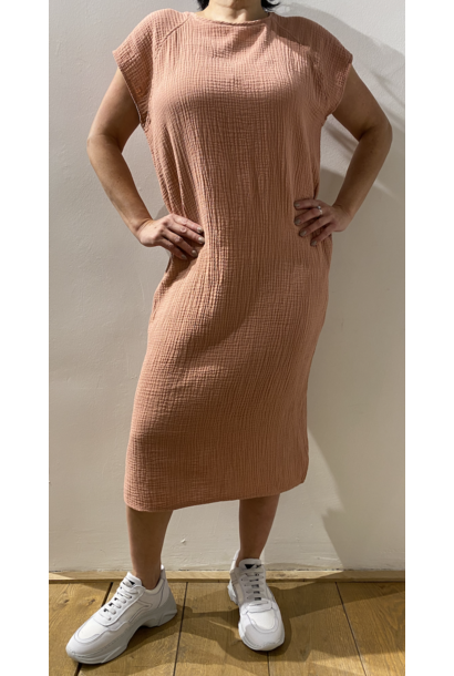 Penn & Ink Dress S21T530 Terracotta