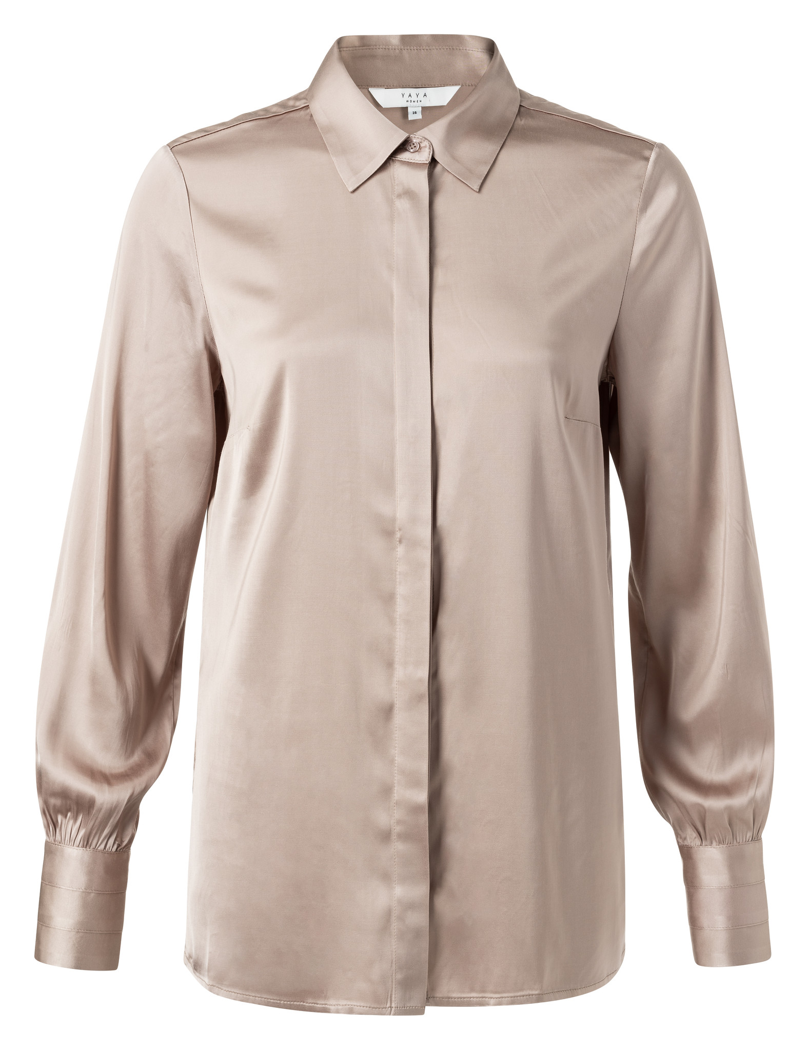yaya Satin shirt detailed 1101195-111-1