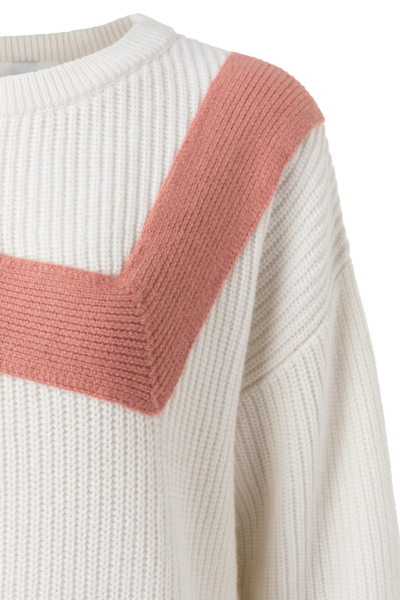 yaya Zig zag sweater 1000389-111-2
