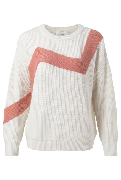 yaya Zig zag sweater 1000389-111 10602