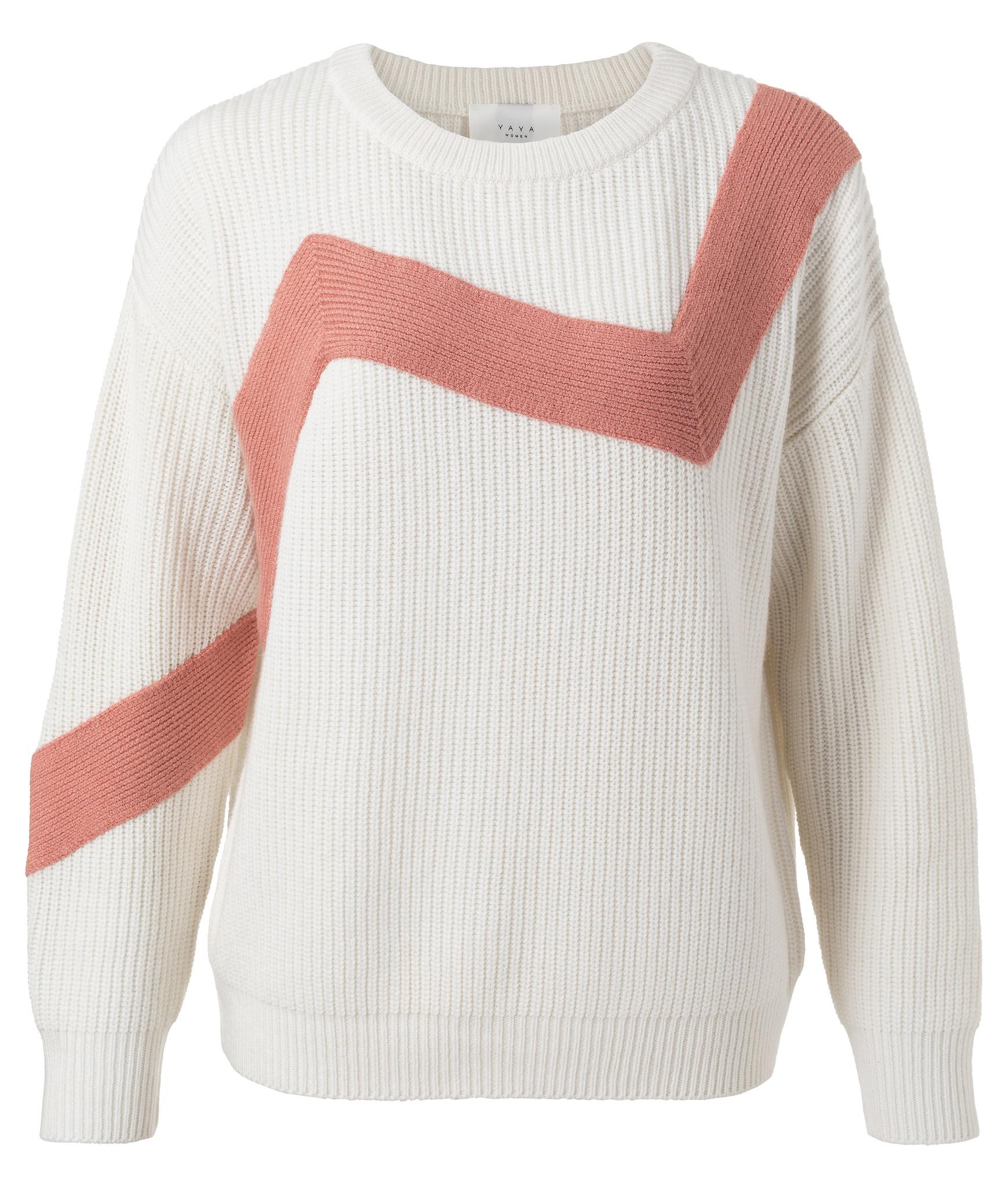 yaya Zig zag sweater 1000389-111-1