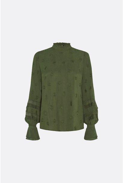 Fabienne Chapot Blouse LEO CLT-162 Army Green