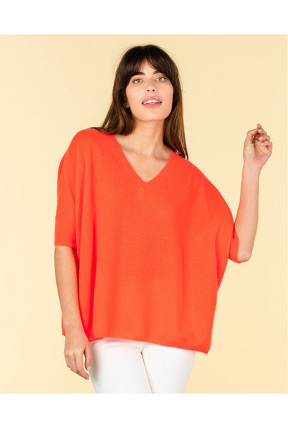 Absolut Cashmere shirt KATE 112010 Corail Fluo