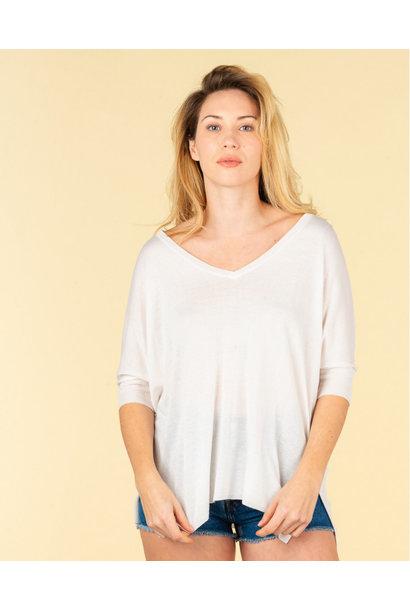 Absolut Cashmere Shirt REBECCA 116001 Ecru