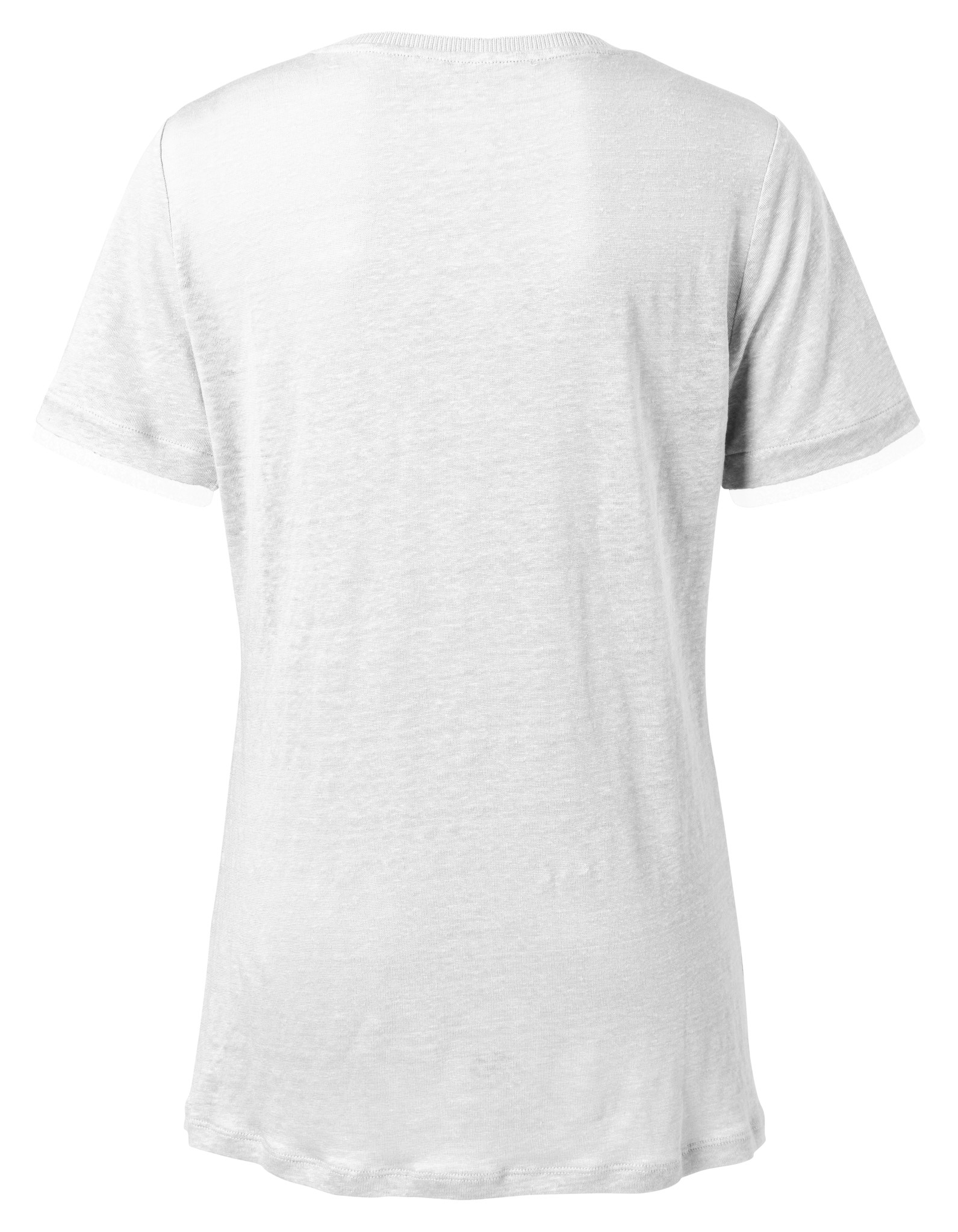 yaya V-neck tee with wove 1919168-113-3