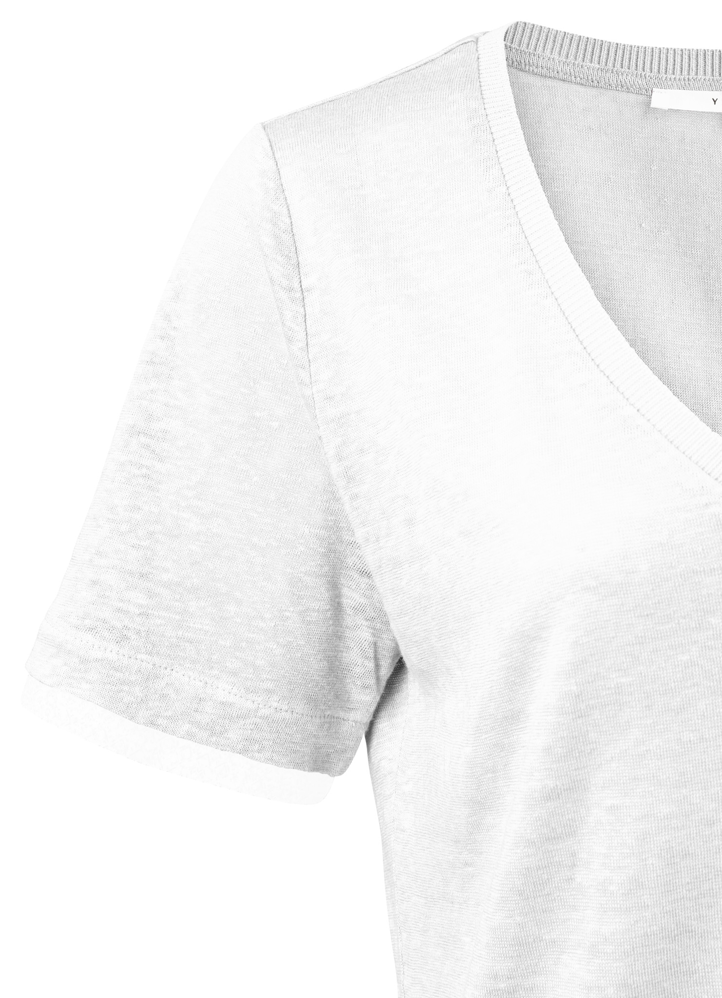 yaya V-neck tee with wove 1919168-113-2