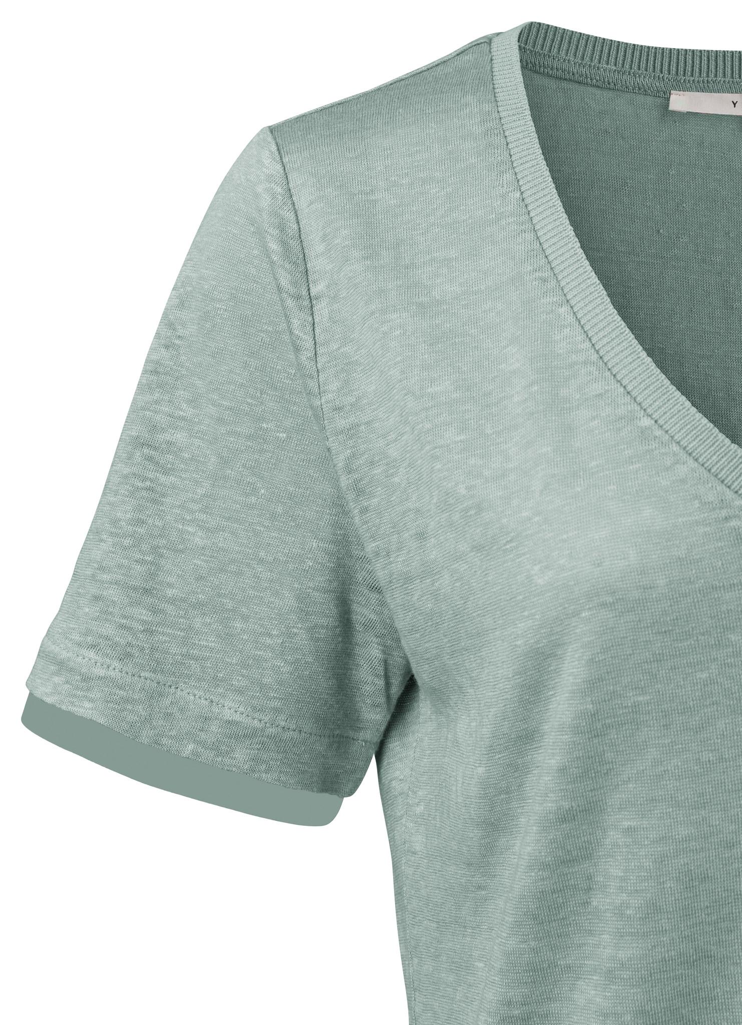 yaya V-neck tee with wove 1919168-113-2