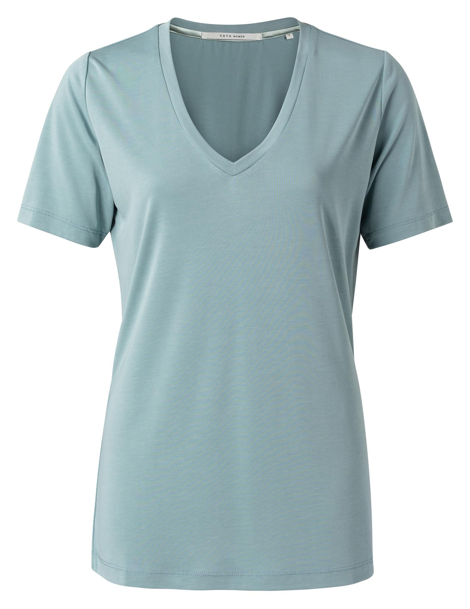 yaya Modal v-neck t-shirt 1919121-112-1