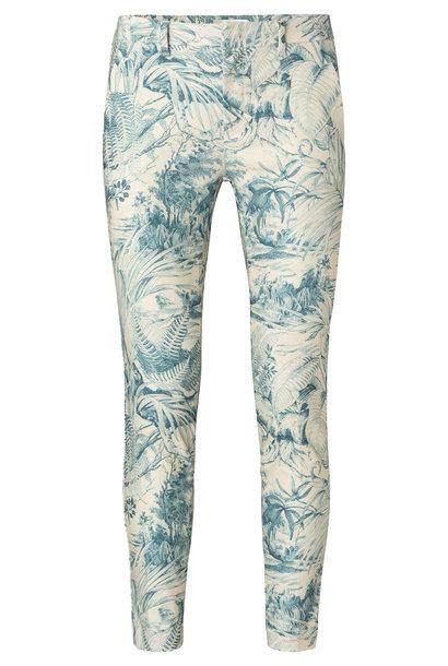 yaya Printed stretch trouser