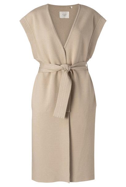 yaya Long sleeveless cardigan