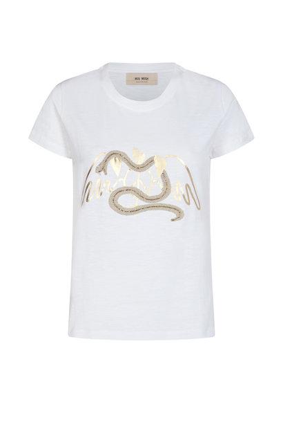 MosMosh Shirt 136320 VEE 109 White
