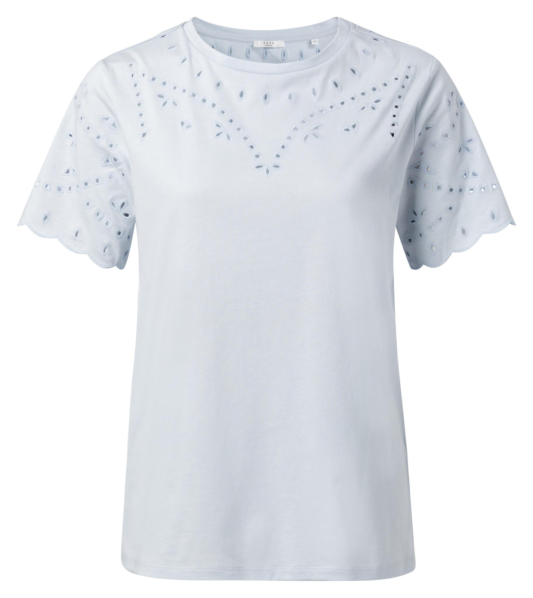 yaya T-shirt with broderi 1919136-014-1