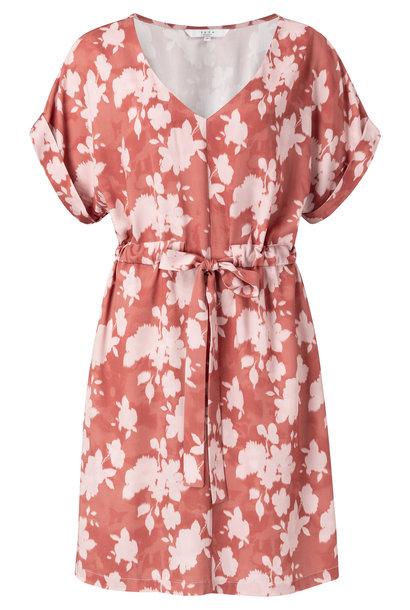 yaya Belted dress with fl 1801222-014 715241