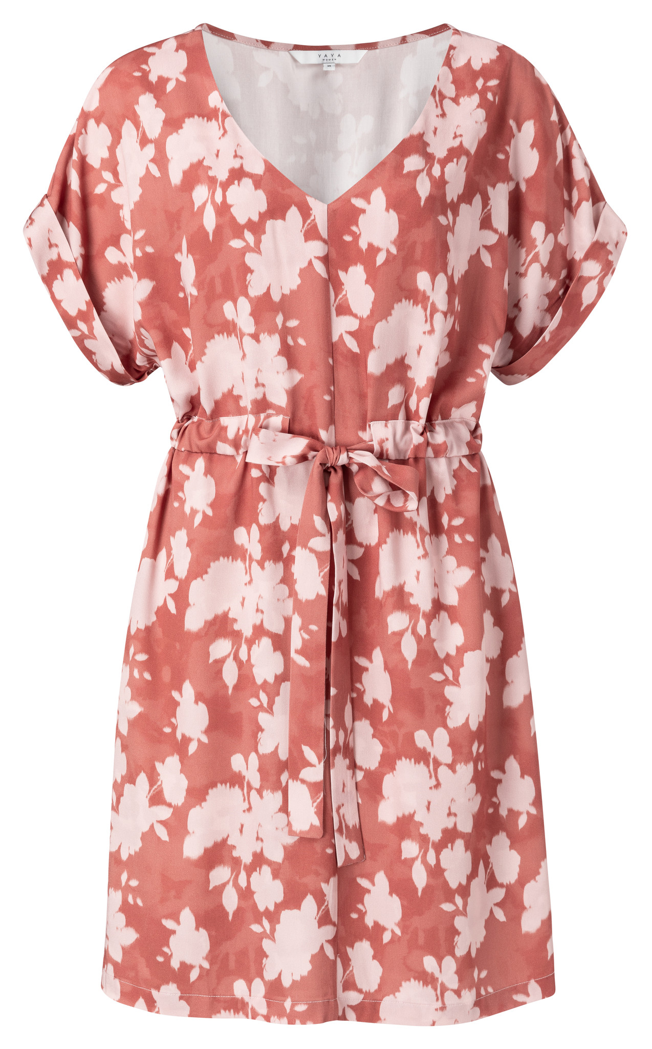 yaya Belted dress with fl 1801222-014-1