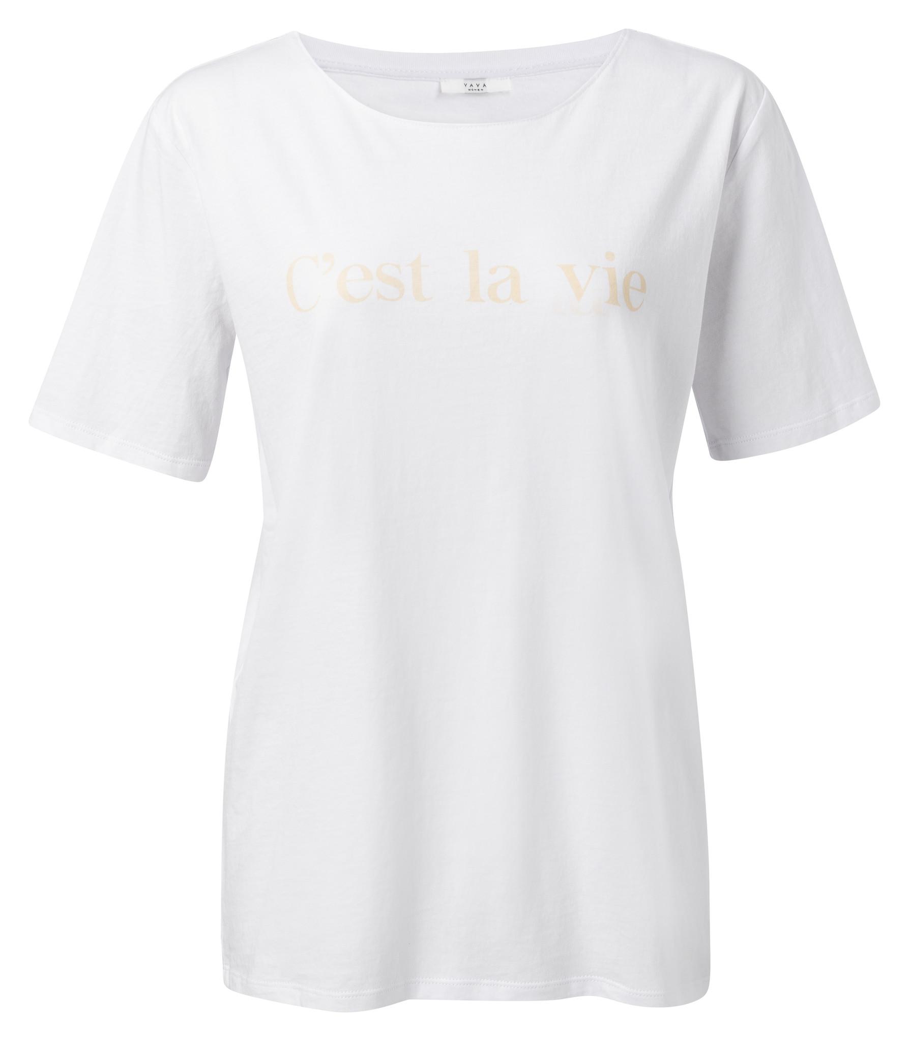 yaya Cotton T-shirt with 1919139-014-1