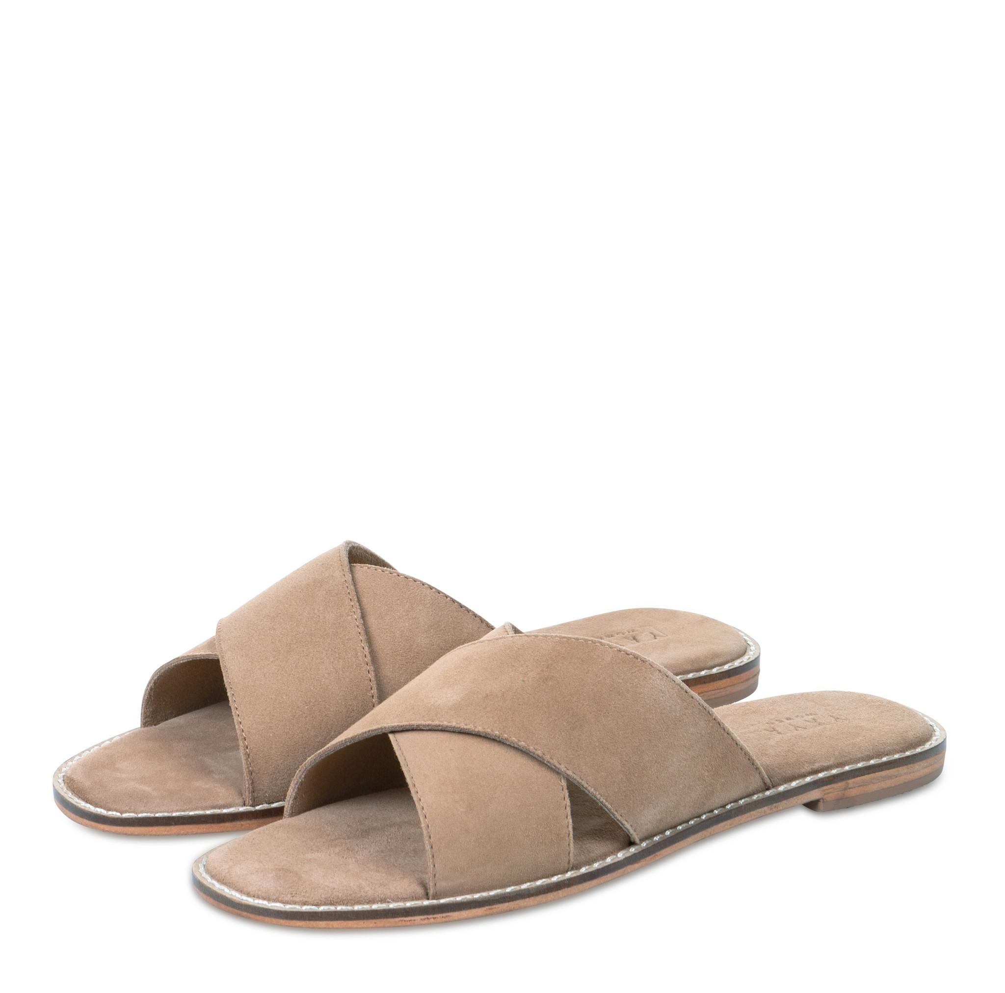 yaya Leather slipper with 134356-014-1