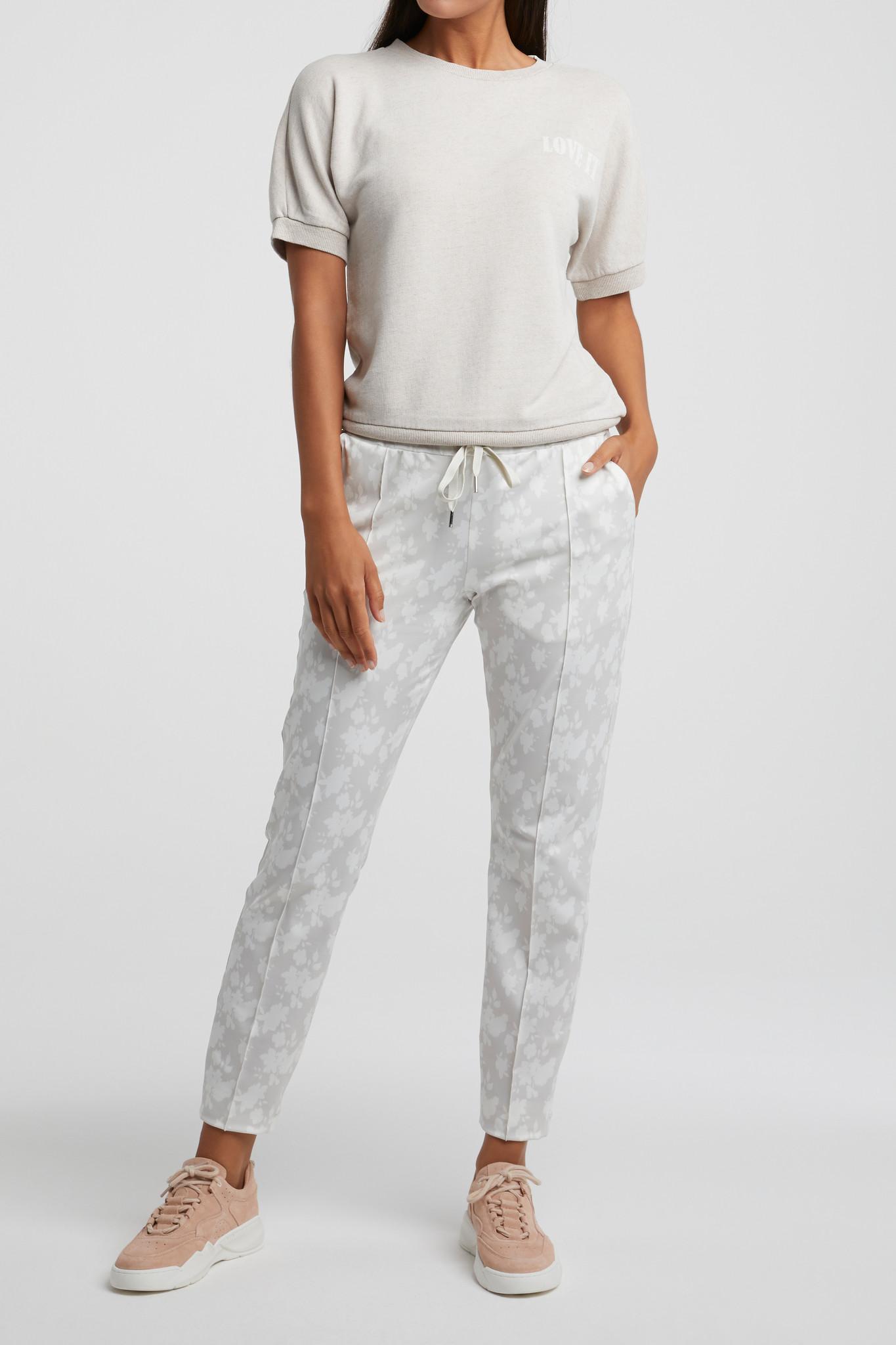 yaya Jogger pants with fl 1209183-014-3