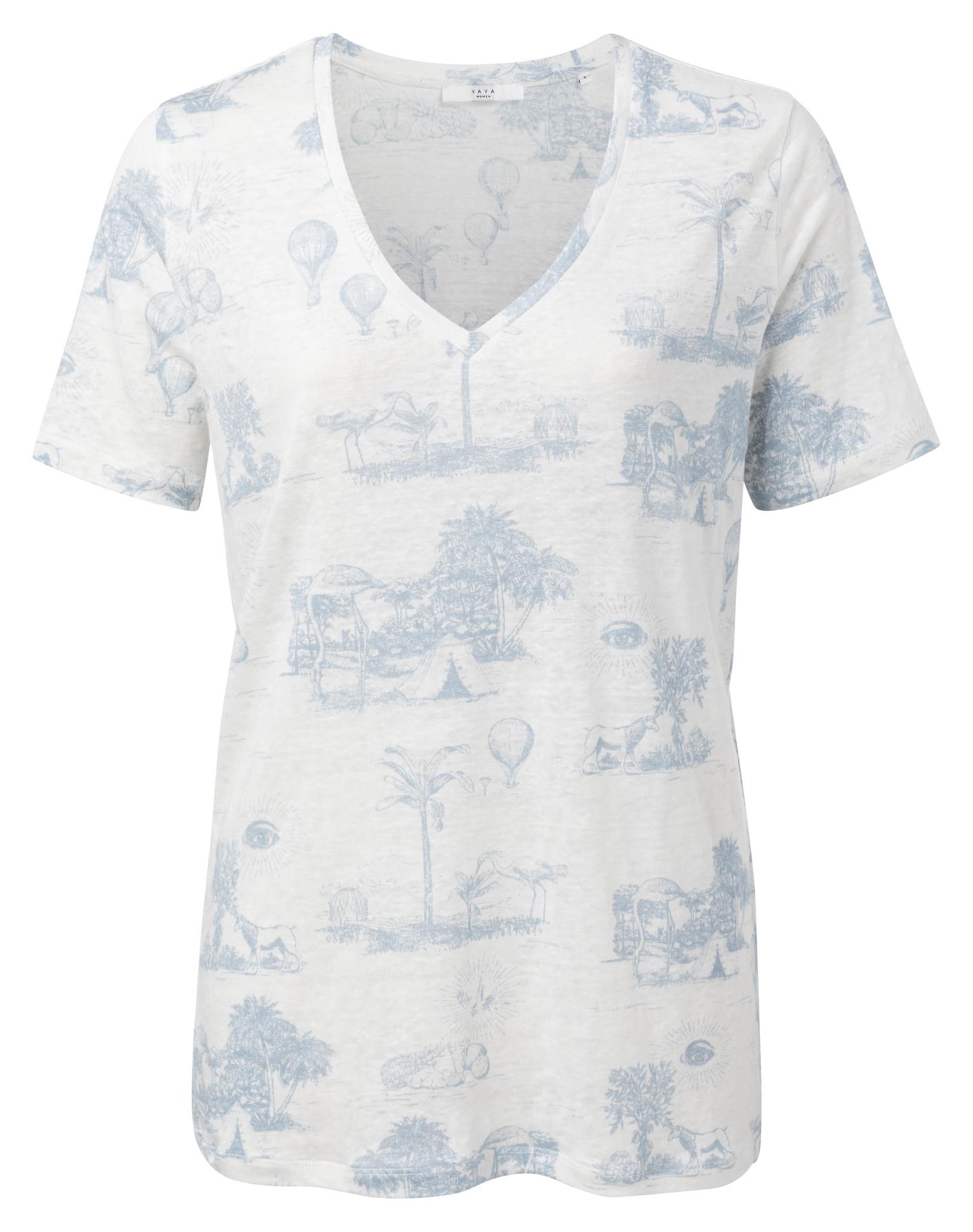 yaya Linen T-shirt with s 1909286-014-1