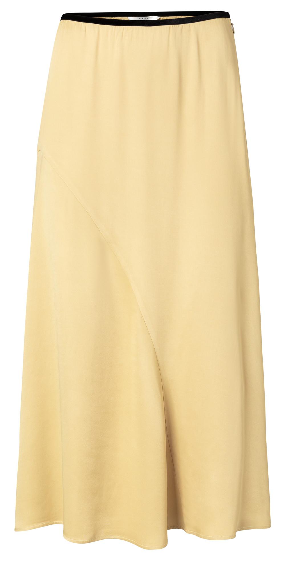 yaya Satin A-line skirt 140183-014-1
