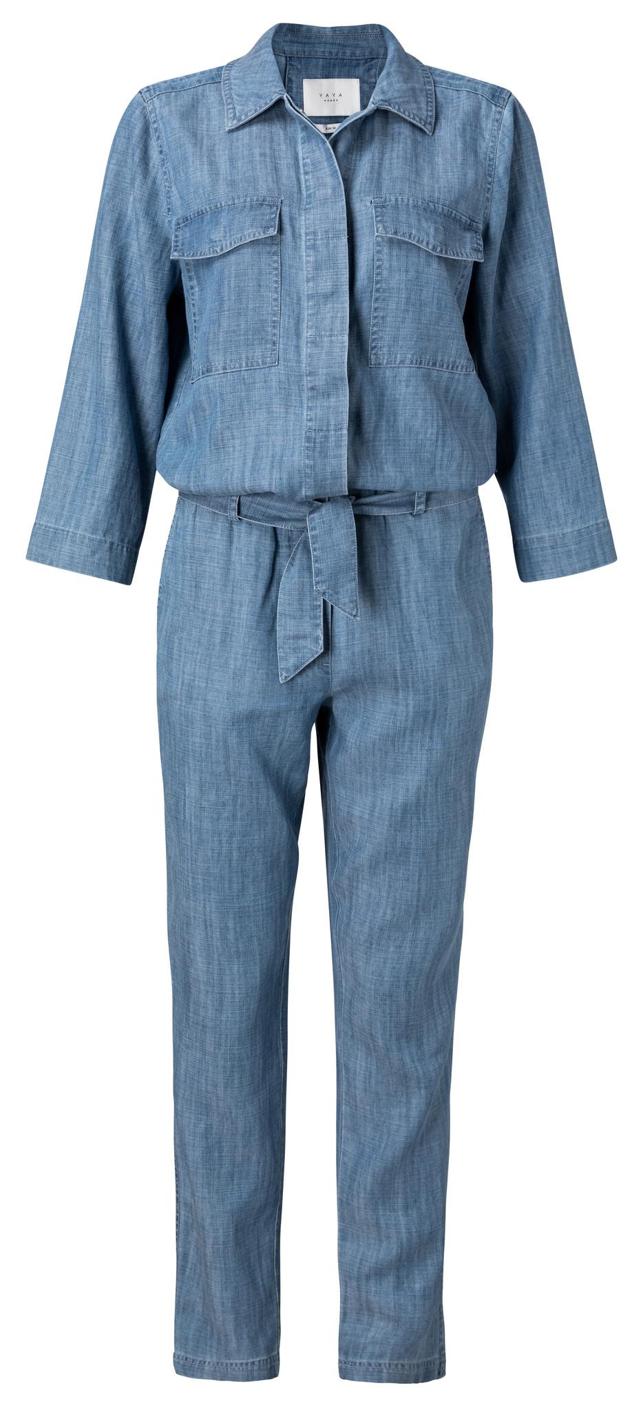 yaya Chambray jumpsuit wi 124122-014-1