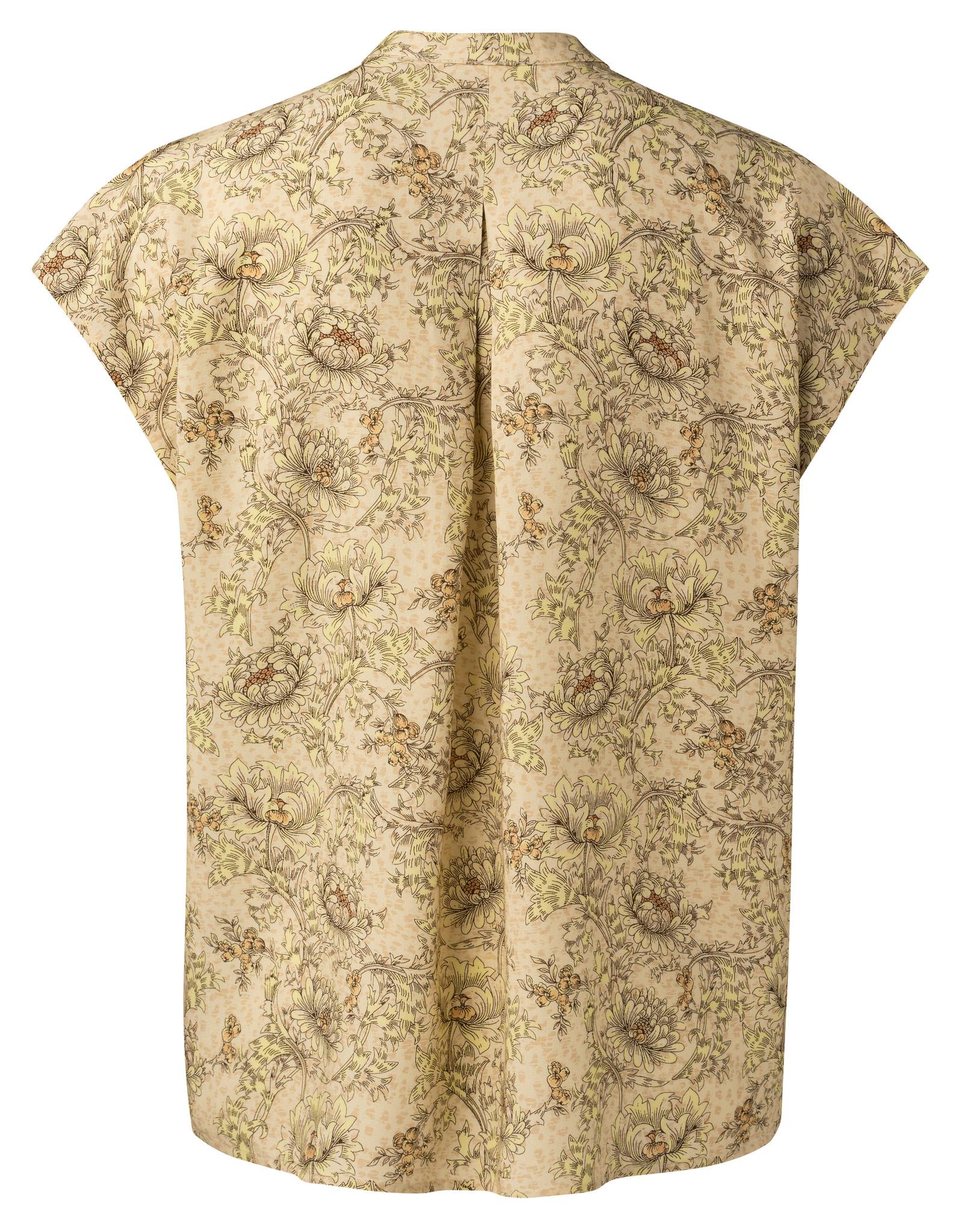 yaya Printed v-neck top 1901437-115-3