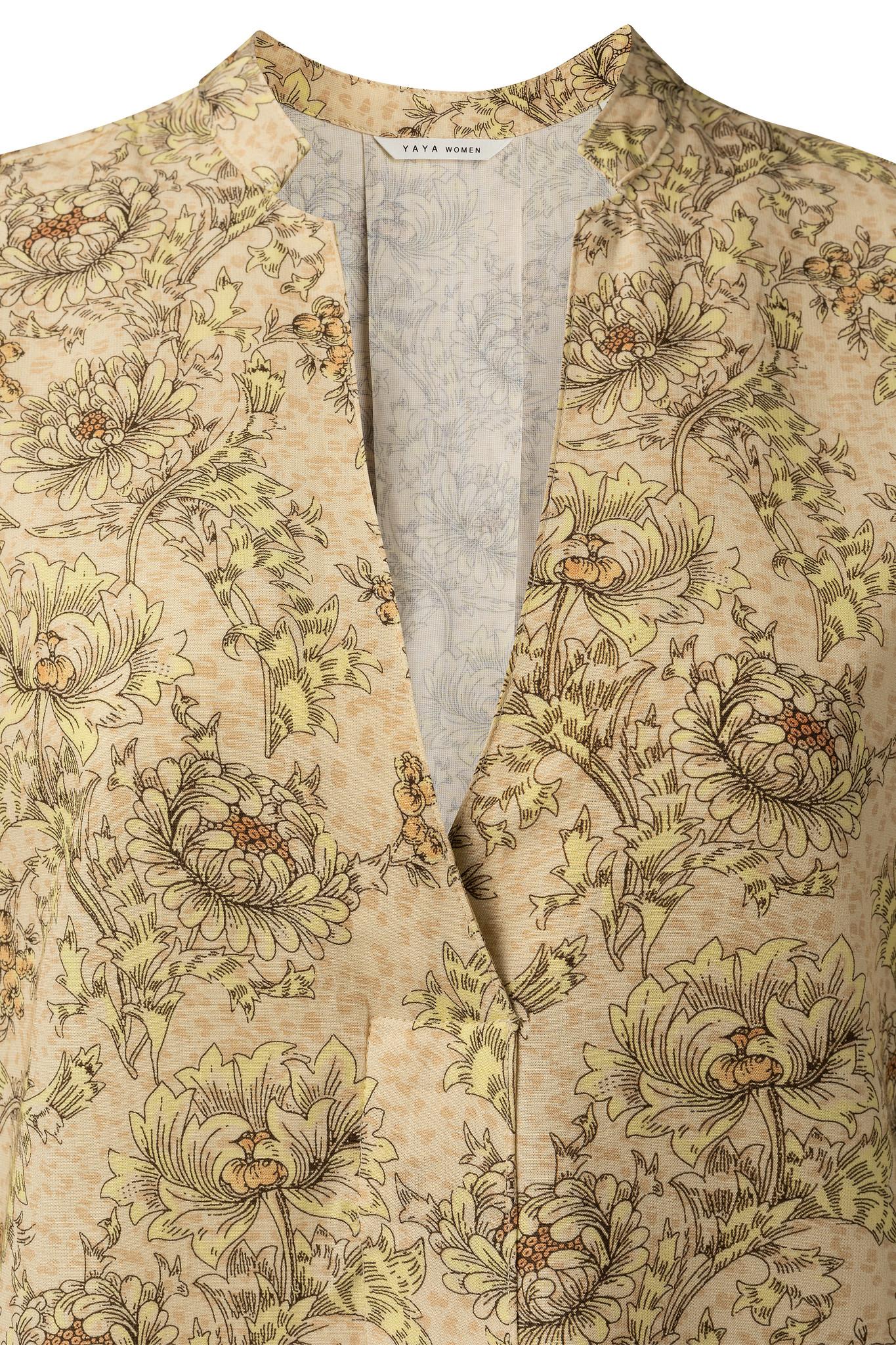 yaya Printed v-neck top 1901437-115-2