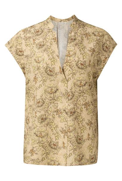 yaya Printed v-neck top