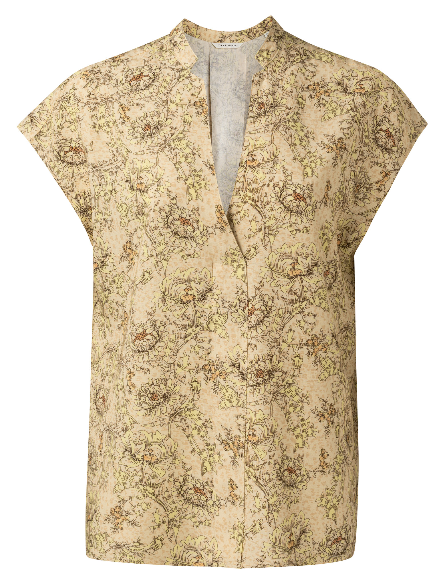 yaya Printed v-neck top 1901437-115-1