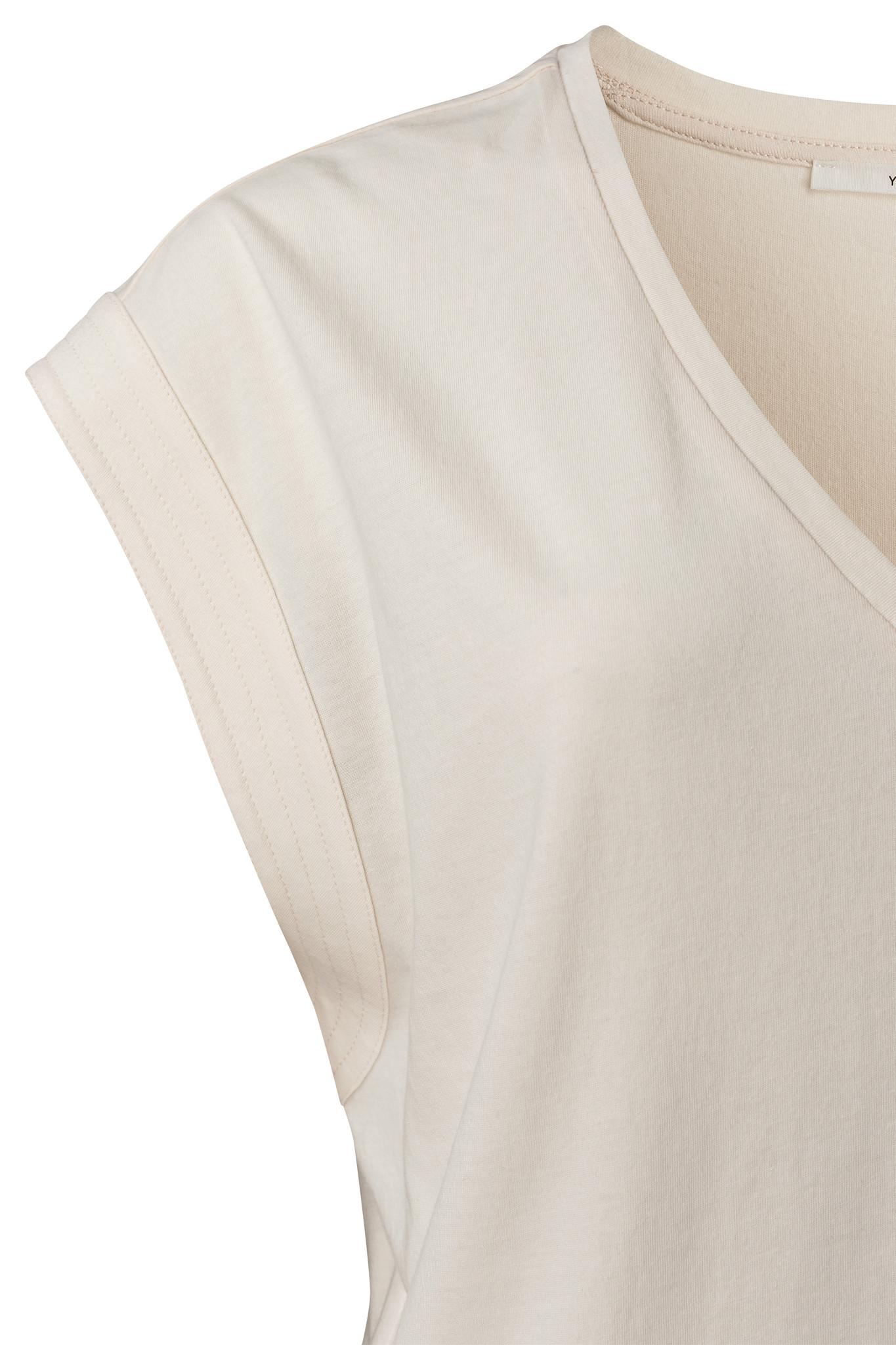 yaya V-neck top with stit 1909423-115-2
