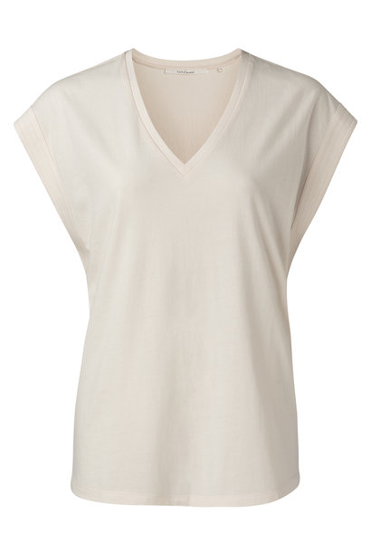 yaya V-neck top with stit 1909423-115 21106
