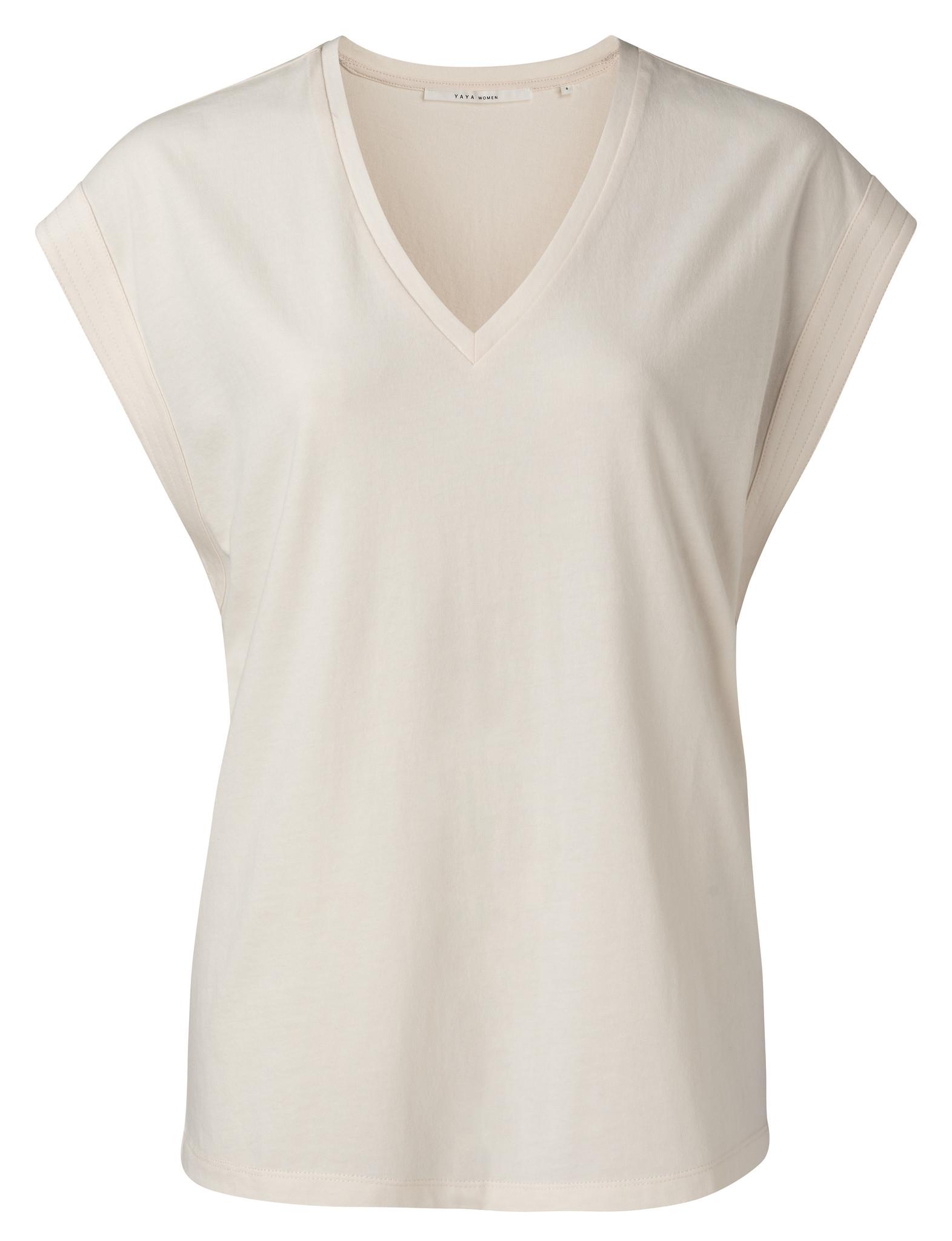 yaya V-neck top with stit 1909423-115-1