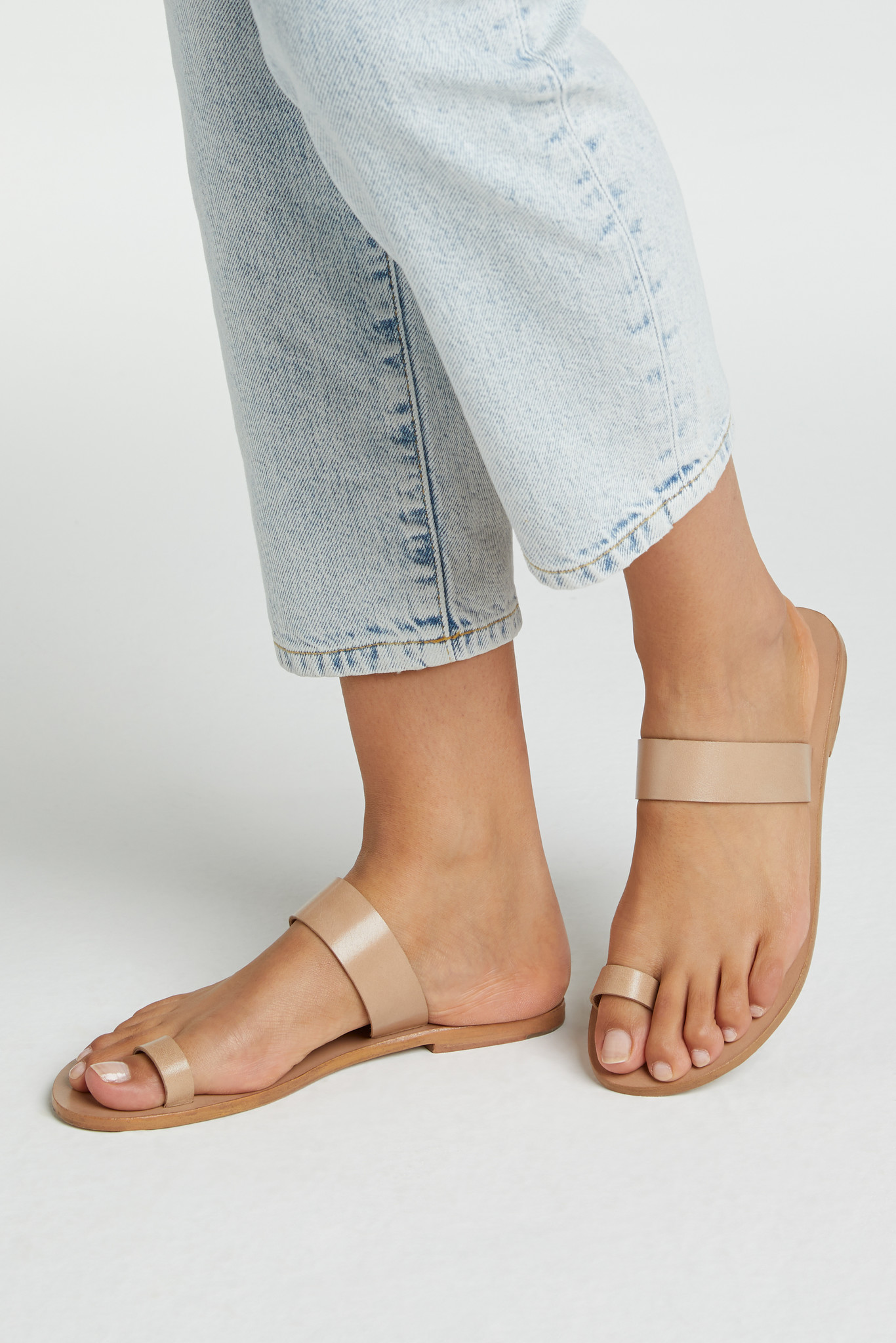 yaya Leather slipper 1343084-115-3