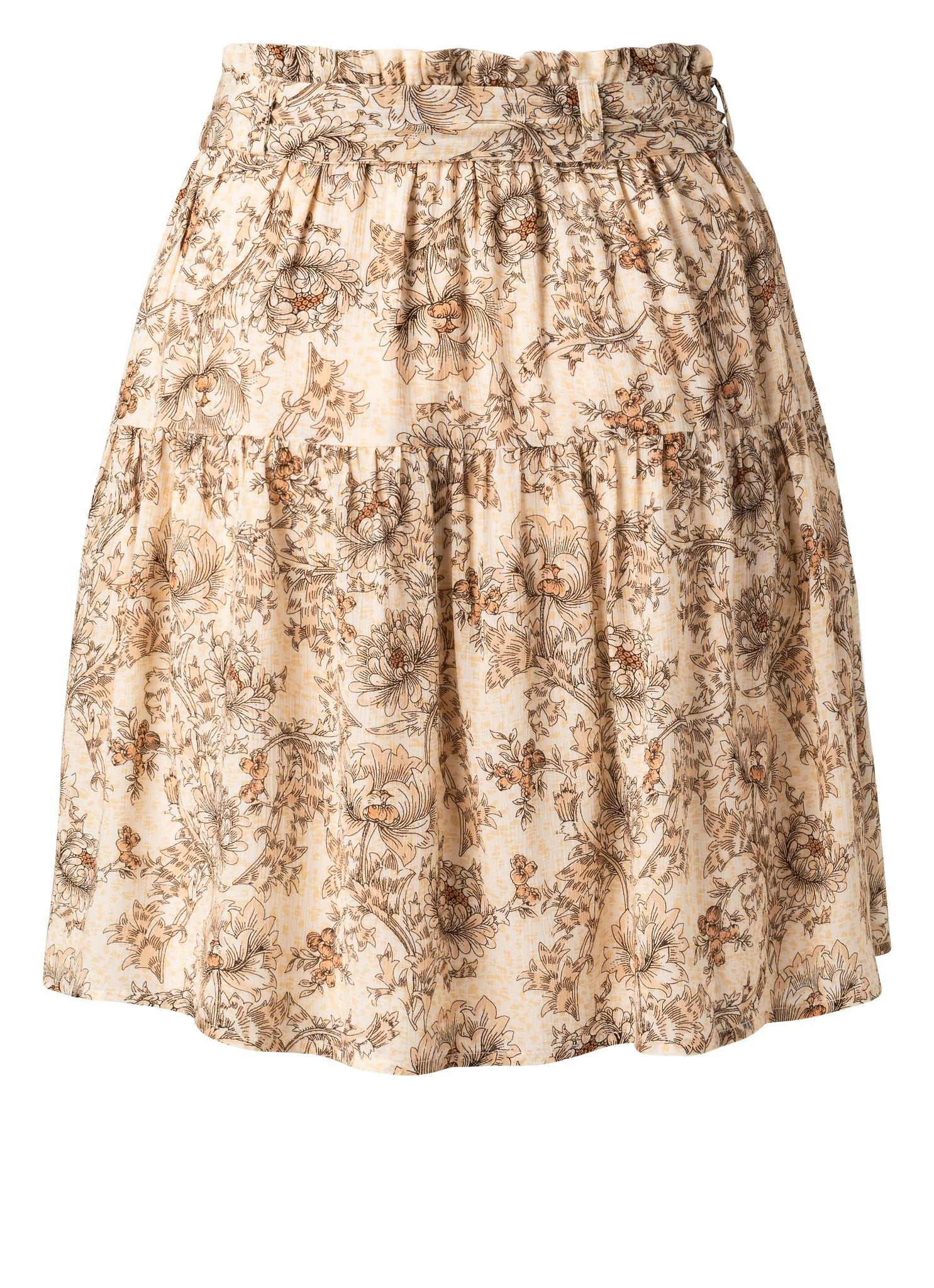 yaya Printed mini skirt 1401140-115-2