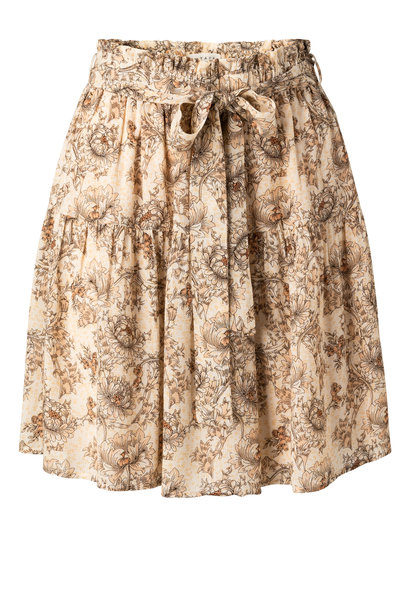 yaya Printed mini skirt